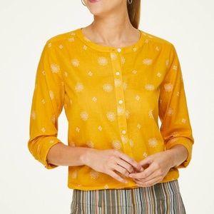 LOFT Outlet Floral Golden Button Down Blouse